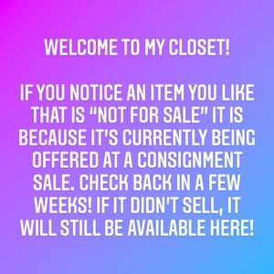 """A note on my """"not for sale"""" items…"""